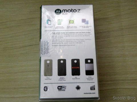 Smartphone Motorola Moto Z Play, em sua caixa