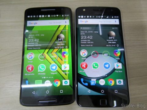 Moto Z Play, ao lado do Moto X Play