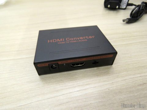 Entrada do Extrator de Áudio de HDMI para SPDIF e Analógico RCA Estéreo