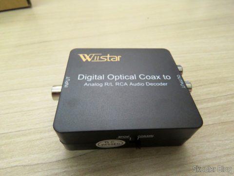 Decodificador de Áudio Óptico/Coaxial DTS/AC3 para Analógico Estéreo Wiistar
