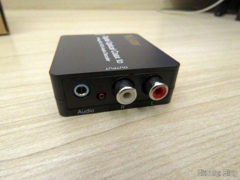 Saídas do Decodificador de Áudio Óptico/Coaxial DTS/AC3 para Analógico Estéreo Wiistar