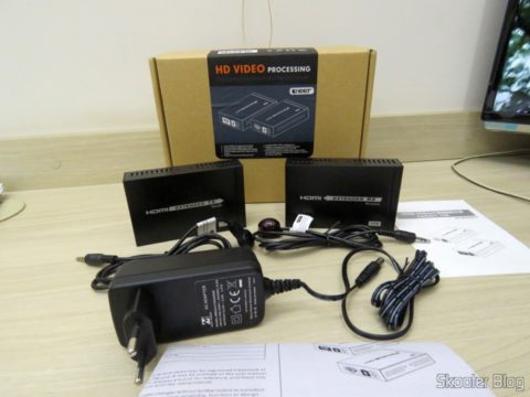 2º Extensor HDMI Lenkeng LKV375 HDBaseT por Par Trançado Único