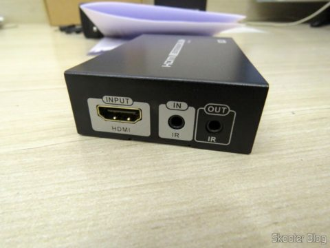 Transmissor do 2º Extensor HDMI Lenkeng LKV375 HDBaseT por Par Trançado Único