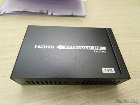 Receptor do 2º Extensor HDMI Lenkeng LKV375 HDBaseT por Par Trançado Único