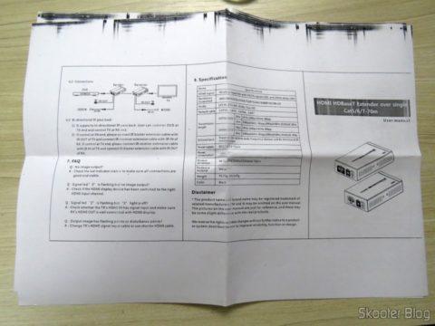 2 instruction manual HDMI Extender Lenkeng LKV375 HDBaseT by Single twisted pair
