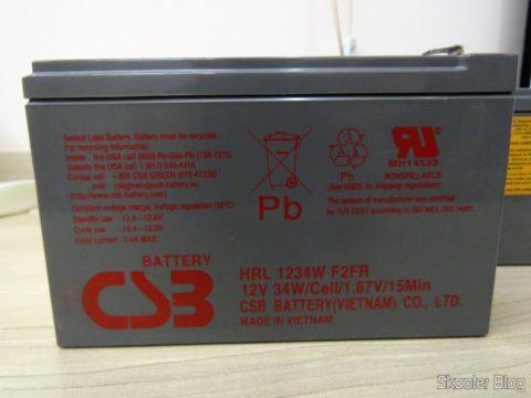 Baterias CSB HR 1234W F2 12VDC 9Ah 34W longa vida 8 anos