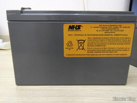 Selo da NHS nas Baterias CSB HR 1234W F2 12VDC 9Ah 34W longa vida 8 anos