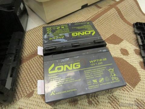 As finadas baterias originais da APC, agora nuas