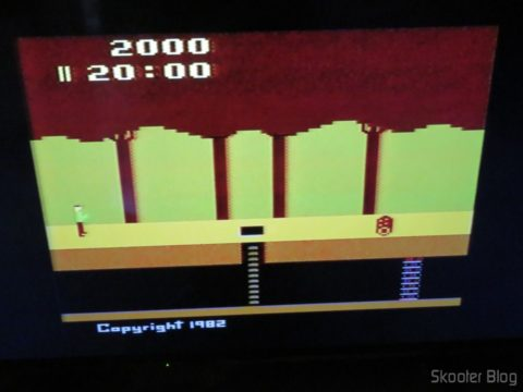 Pitfall on Atari 2600 the Polivoks c/external source, in LCD TV