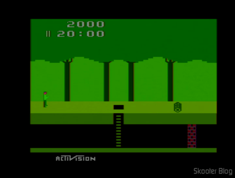 Pitfall no Atari 2600 após o ajuste