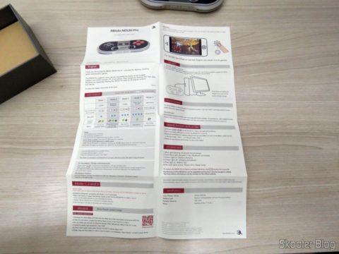 Manual de Instruções do 8Bitdo Crissaegrim NES30 PRO