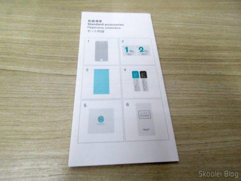 Manual de instrulções da Película de Vidro Protetora de Tela para Moto Z Play Nillkin H+Pro