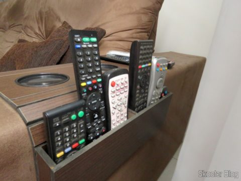 Mat-Flexible Tray For sofa with Arm Box for Remote Controls