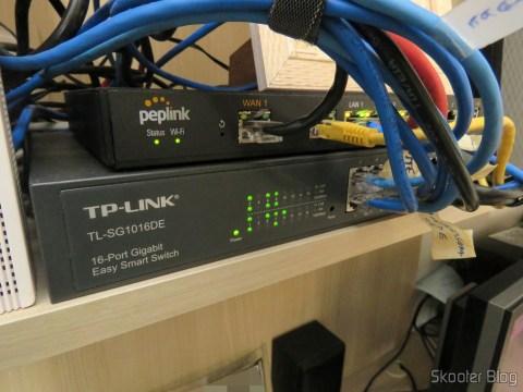 2º Switch Easy Smart Gigabit de 16 Portas TP-Link TL-SG1016DE, após a última reorganização
