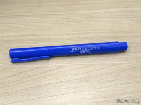 Caneta Hidrográfica Azul 0,4mm Faber Castell Fine Pen