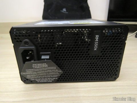 Fully Modular power supply S Series ™ RM550X — 550 Watt with certification 80 PLUS ® Gold