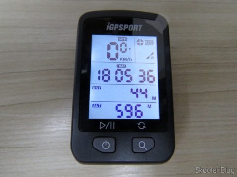The first screen of the iGPSPORT iGS20E
