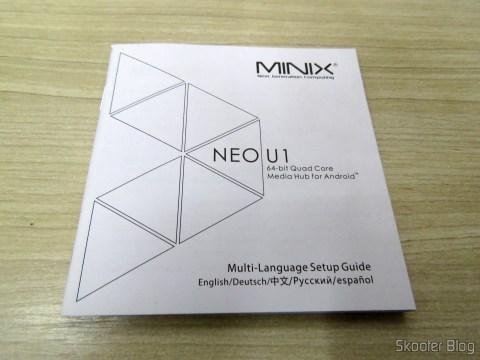 Folhetos e manuais do TV Box / Media Hub Minix NEO U1