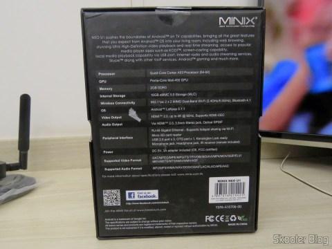 Caixa do Minix NEO U1: especificações