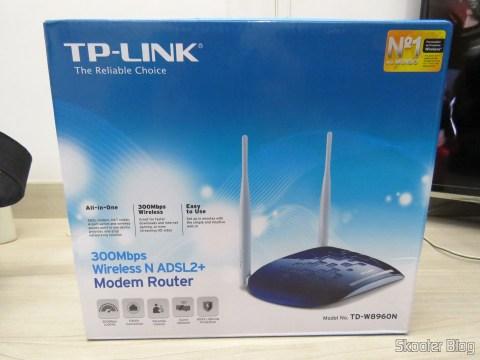 TP-Link TD-W8960N - Modem Roteador Wireless N ADSL2+ de 300Mbps, em sua embalagem