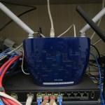 TP-Link TD-W8960N - Modem Roteador Wireless N ADSL2+ de 300Mbps, em funcionamento