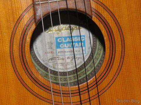 Giannini Guitar MPB Nylon Stringing Medium Voltage Black-Silver, After installation