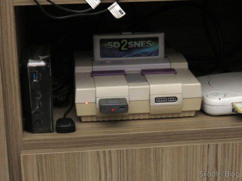 Retro Receiver SNES conectado ao Super Nintendo
