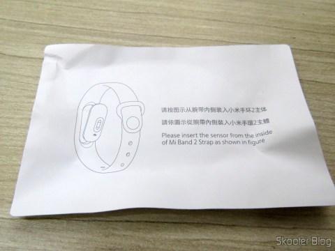 Instruções da Pulseira para Mi Band 2 Original Xiaomi