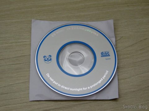 Mini CD with software