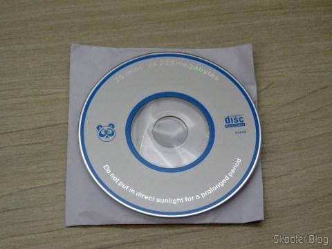Mini CD com softwares