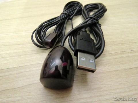 Receptor/Emissor de Infravermelho, alimentação USB, 38 KHz, Extensor de Controle Remoto