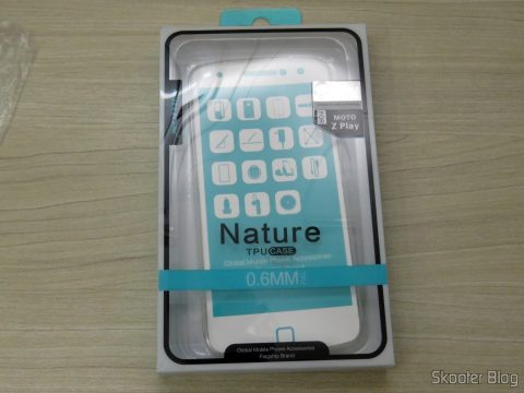 Transparent cover for Motorola Moto Z Play Nillkin Nature 0, 6 mm TPU, on its packaging