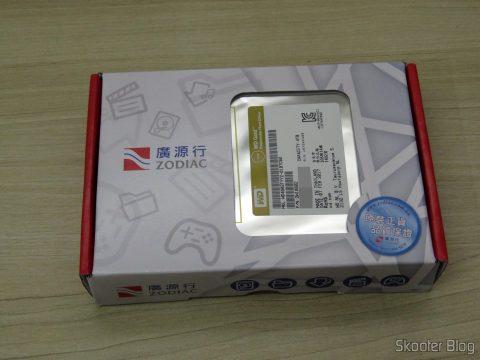 HD Western Digital WD Gold 4TB, em sua embalagem