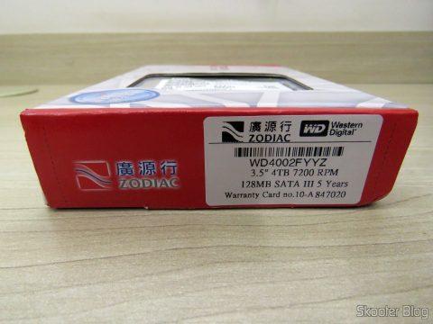 HD Western Digital WD Gold 4TB, em sua embalagemv