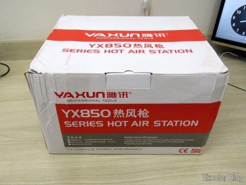 Estação de Solda e Retrabalho c/ Ar Quente Yaxun 702 110v, em sua embalagem