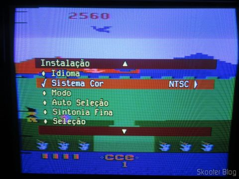 The Atari 2600 already working in NTSC despite of still incomplete-transcoding.