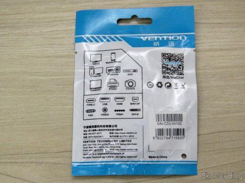 2º Cabo USB de Carga e Dados Vention para iPhone, em sua embalagem