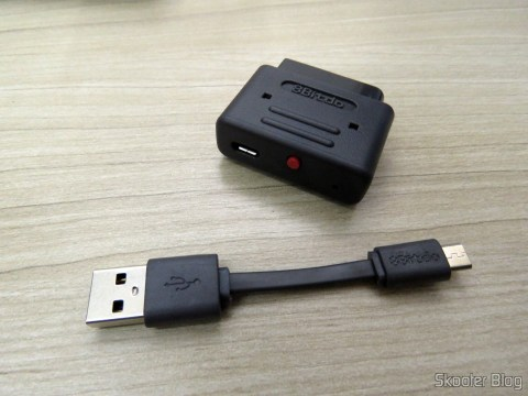 2º Retro Receiver SNES - 8bitdo e seu cabo USB