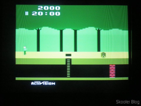 Pitfall, with the 2600RGB via composite video on CRT TV.