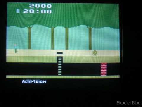 Pitfall, com o 2600RGB via vídeo composto em TV CRT.
