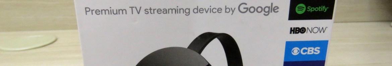 Chromecast Ultra, em sua embalagem.