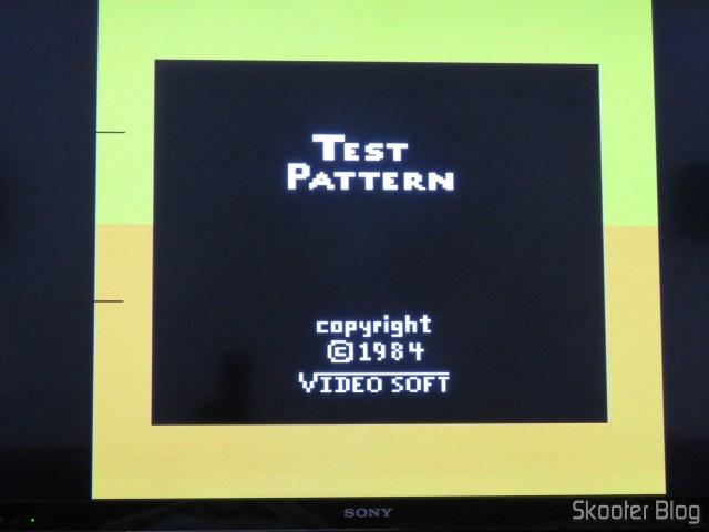 Teste de cores, usando a saída S-Video do 2600RGB.