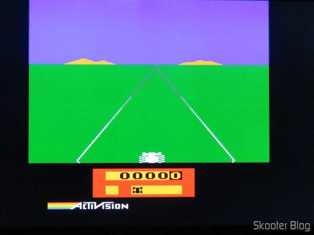 Enduro, on the Atari 2600 with the 2600RGB using the RGB output.