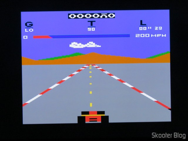 Pole Position, on the Atari 2600 with the 2600RGB using the RGB output.
