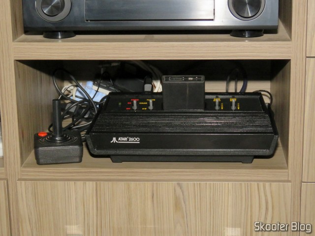 Atari 2600 with the mod 2600RGB, installed permanently in my rack.