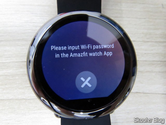 Pace Amazfit asking me to put the password of WiFi on mobile.