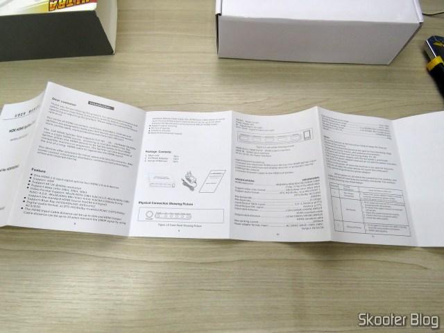 Instruction Manual HDMI Splitter 2.0 Voxlink com 4 outputs - 4K 60Hz HDCP 2.2