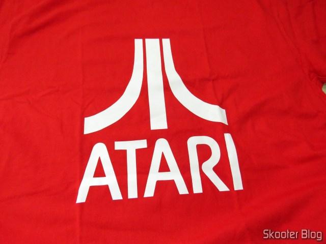 Estampa da Camiseta de Algodão com Logotipo da Atari.