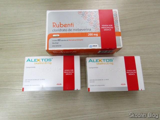 2 Alektos - Bilastina 20 mg and Rubenti - Mebevarina hydrochloride