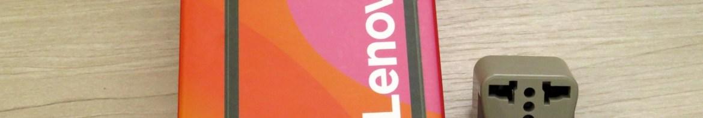 Smartphone Lenovo Vibe B 8GB e o adaptador.